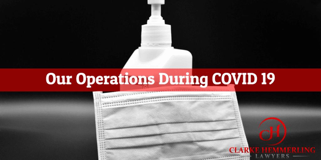 Covid19 operations