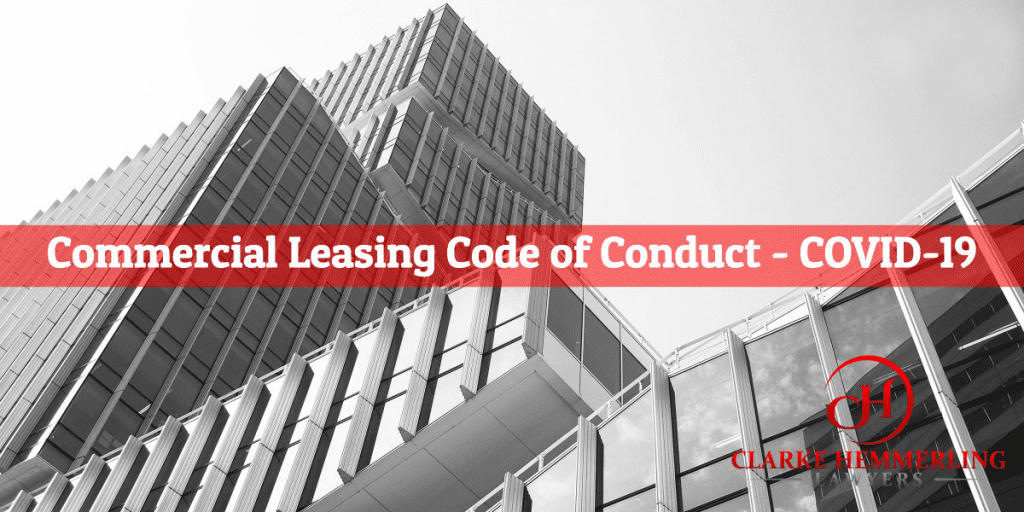 Commercial Leasing Code of Conduct - COVID-19