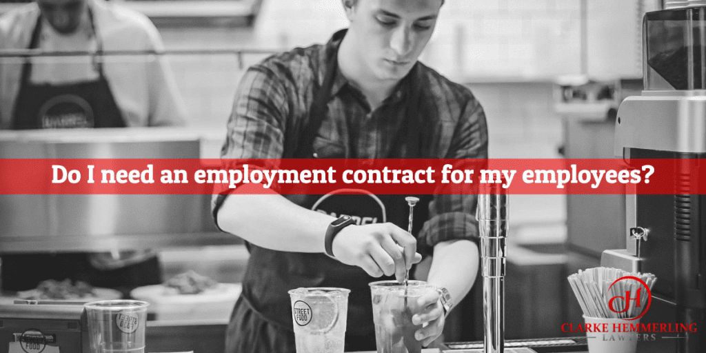 Do I need an employment contract for my employees